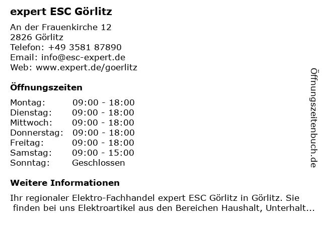 expert ESC GmbH in Görlitz: Adresse und Öffnungszeiten
