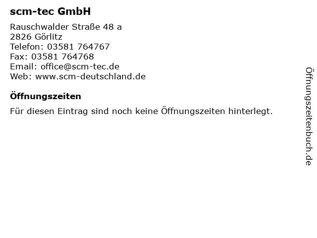 scm-tec GmbH in Görlitz: Adresse und Öffnungszeiten