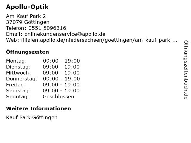Apollo-Optik Holding GmbH & Co. KG in Göttingen: Adresse und Öffnungszeiten