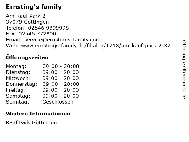 Ernsting's family GmbH & Co. KG in Göttingen: Adresse und Öffnungszeiten