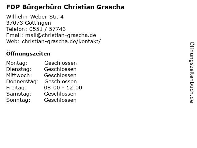 FDP Bürgerbüro Christian Grascha in Göttingen: Adresse und Öffnungszeiten
