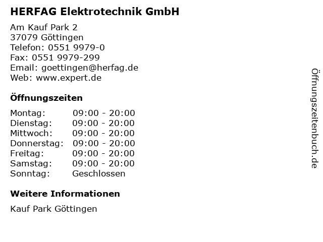 HERFAG Elektrotechnik GmbH in Göttingen: Adresse und Öffnungszeiten