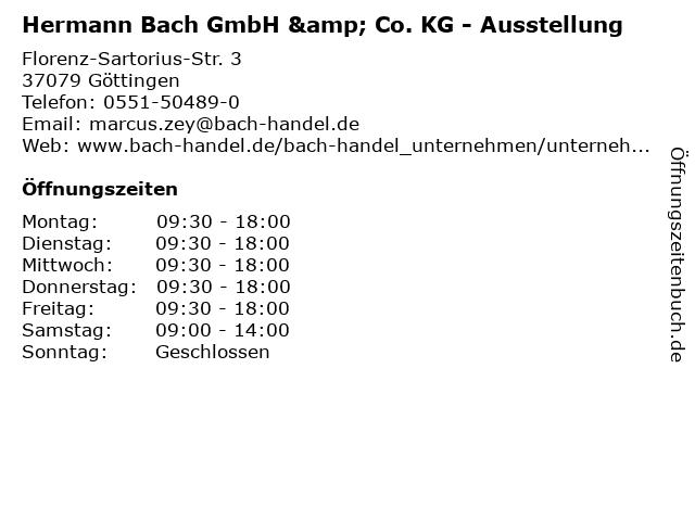 ᐅ Offnungszeiten Hermann Bach Gmbh Co Kg Ausstellung