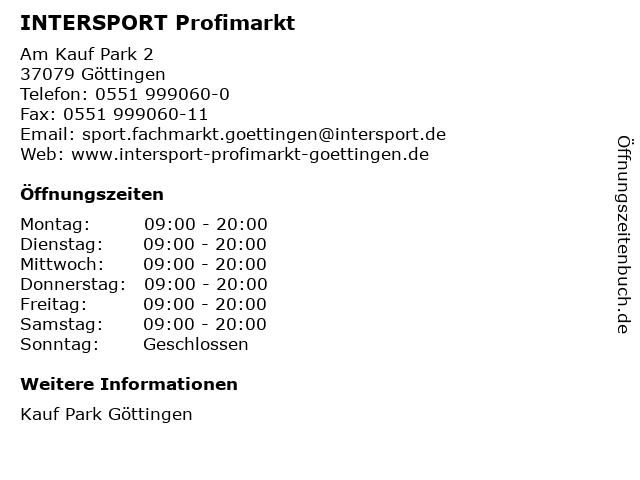 INTERSPORT Profimarkt in Göttingen: Adresse und Öffnungszeiten
