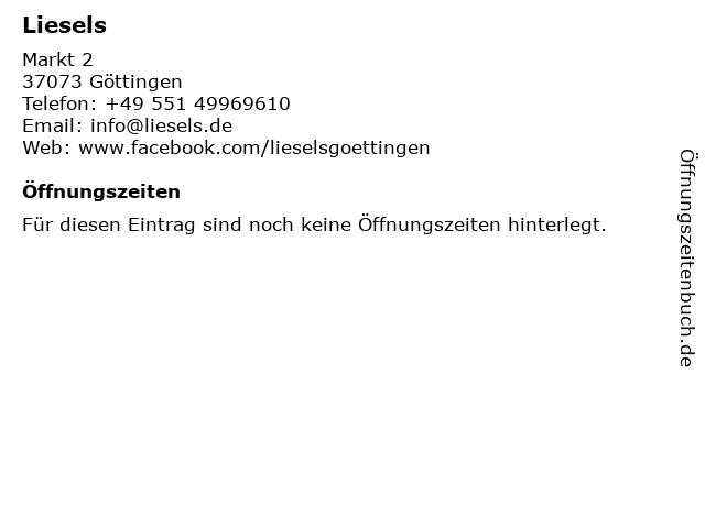 Liesels in Göttingen: Adresse und Öffnungszeiten