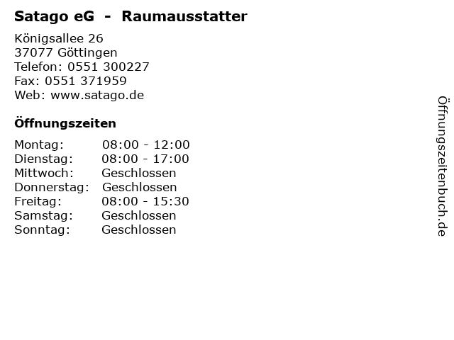 Satago eG  -  Raumausstatter in Göttingen: Adresse und Öffnungszeiten