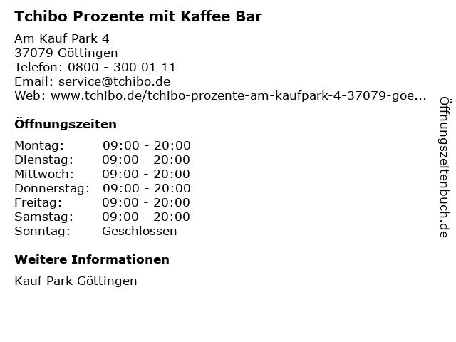 Tchibo PROZENTE in Göttingen: Adresse und Öffnungszeiten