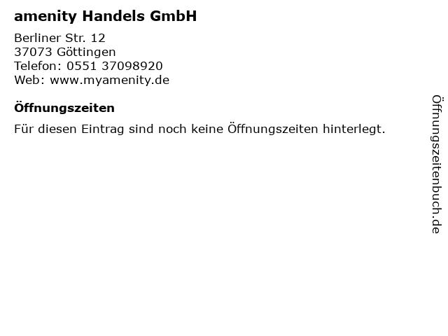 amenity Handels GmbH in Göttingen: Adresse und Öffnungszeiten