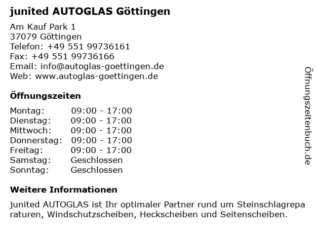 junited AUTOGLAS Göttingen in Göttingen: Adresse und Öffnungszeiten