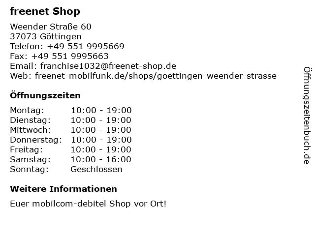 mobilcom-debitel in Göttingen: Adresse und Öffnungszeiten