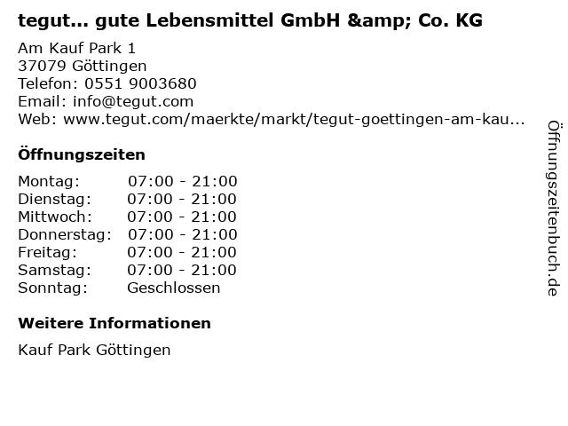 tegut... gute Lebensmittel GmbH & Co. KG in Göttingen: Adresse und Öffnungszeiten