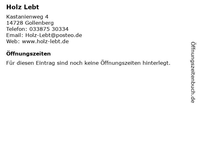 Holz Lebt in Gollenberg: Adresse und Öffnungszeiten