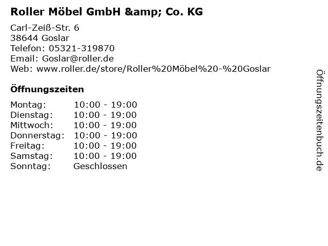 ᐅ öffnungszeiten Roller Möbel Gmbh Co Kg Carl Zeiß Str 6 In