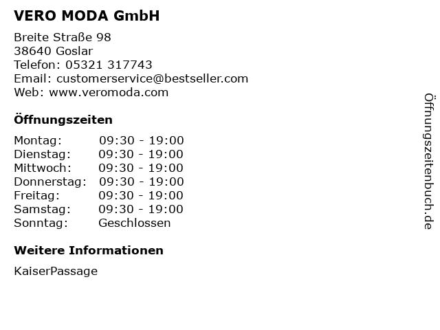 VERO MODA GmbH in Goslar: Adresse und Öffnungszeiten