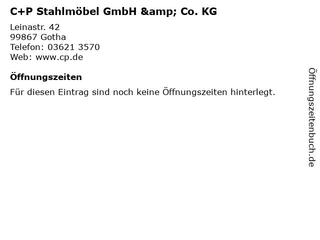 C+P Stahlmöbel GmbH & Co. KG in Gotha: Adresse und Öffnungszeiten
