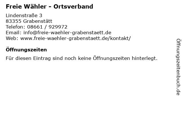 Freie Wähler - Ortsverband in Grabenstätt: Adresse und Öffnungszeiten