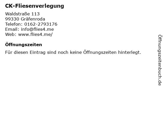 CK-Fliesenverlegung in Gräfenroda: Adresse und Öffnungszeiten