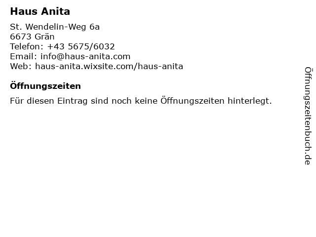 Haus Anita in Grän: Adresse und Öffnungszeiten