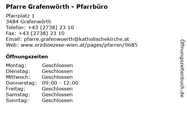 Pfarre Grafenwörth - Pfarrbüro in Grafenwörth: Adresse und Öffnungszeiten