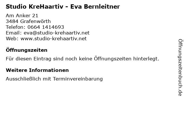 Studio KreHaartiv - Eva Bernleitner in Grafenwörth: Adresse und Öffnungszeiten