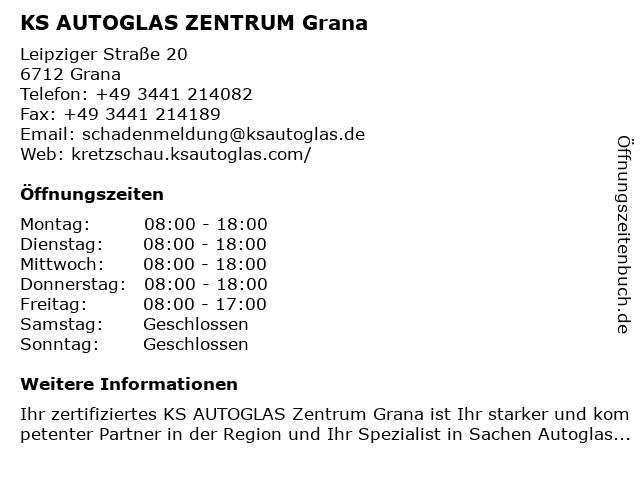 KS AUTOGLAS ZENTRUM Grana in Grana: Adresse und Öffnungszeiten