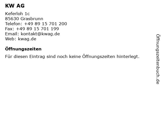 KW AG in Grasbrunn: Adresse und Öffnungszeiten
