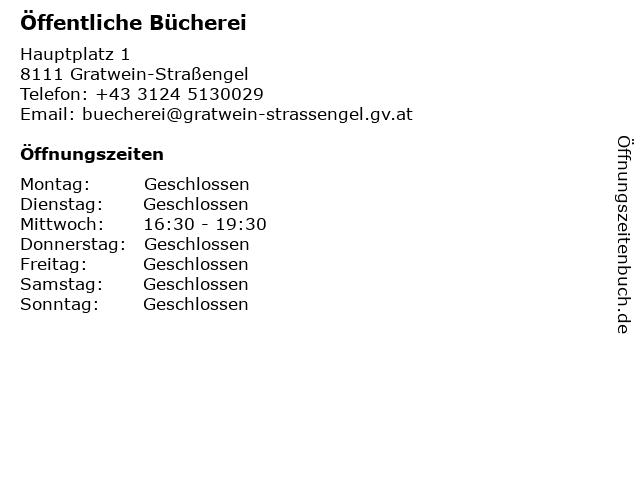 Öffentliche Bücherei in Gratwein-Straßengel: Adresse und Öffnungszeiten