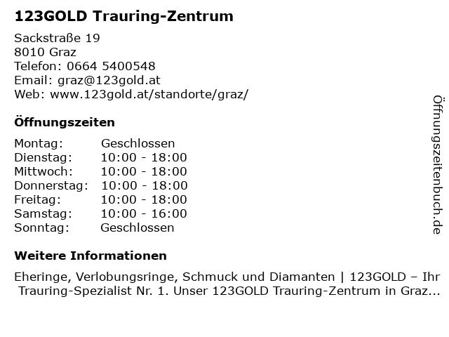 123gold Trauring-Zentrum - Trauringlounge GmbH in Graz: Adresse und Öffnungszeiten