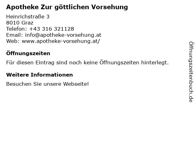 Apotheke Zur göttlichen Vorsehung in Graz: Adresse und Öffnungszeiten