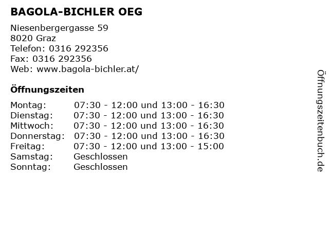 BAGOLA-BICHLER OEG in Graz: Adresse und Öffnungszeiten