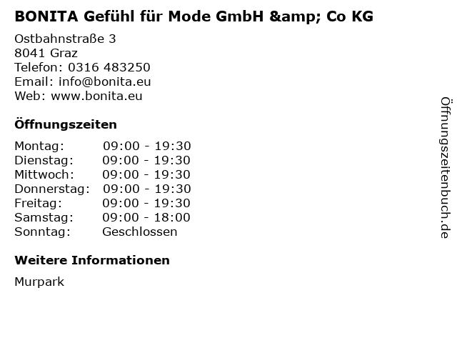 BONITA Gefühl für Mode GmbH & Co KG in Graz: Adresse und Öffnungszeiten