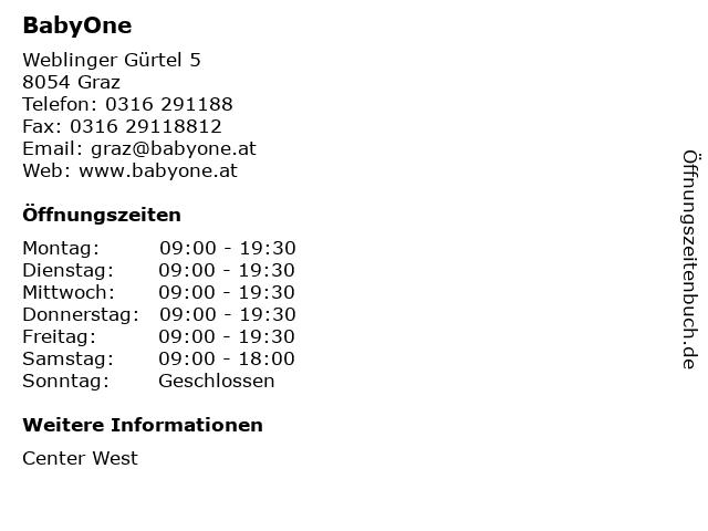 BabyOne in Graz: Adresse und Öffnungszeiten