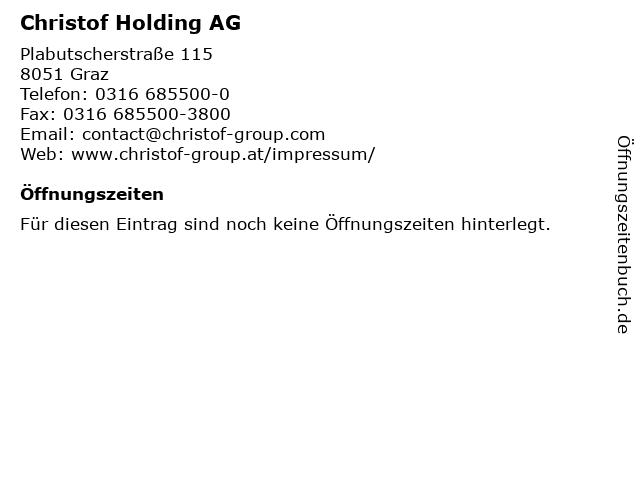 Christof Holding AG in Graz: Adresse und Öffnungszeiten