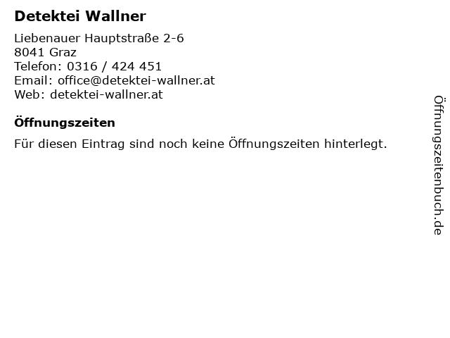 Detektei Wallner in Graz: Adresse und Öffnungszeiten