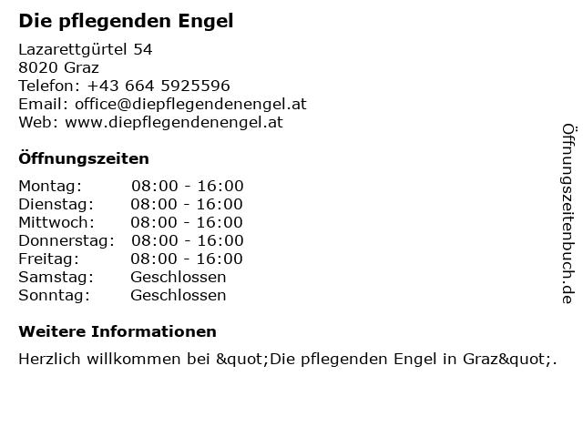 Die pflegenden Engel in Graz: Adresse und Öffnungszeiten