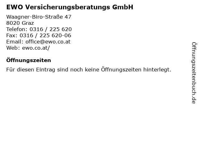 EWO Versicherungsberatungs GmbH in Graz: Adresse und Öffnungszeiten