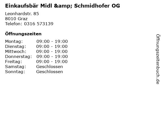 Einkaufsbär Midl & Schmidhofer OG in Graz: Adresse und Öffnungszeiten