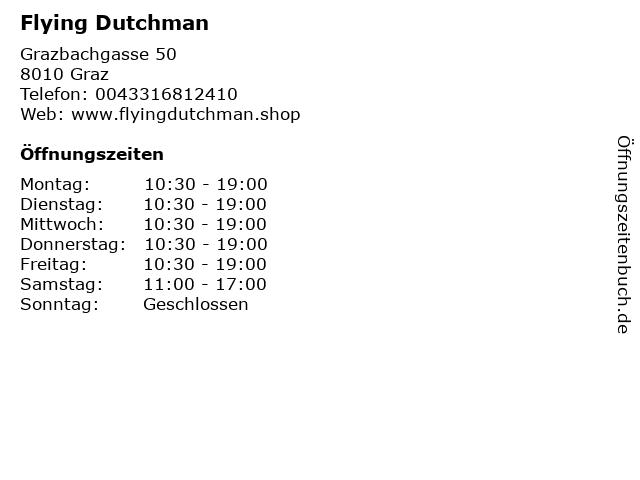 Flying Dutchman in Graz: Adresse und Öffnungszeiten