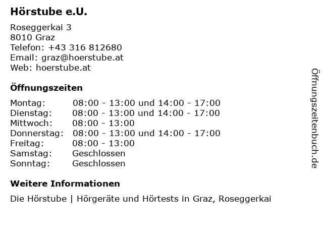 Hörstube OG in Graz: Adresse und Öffnungszeiten