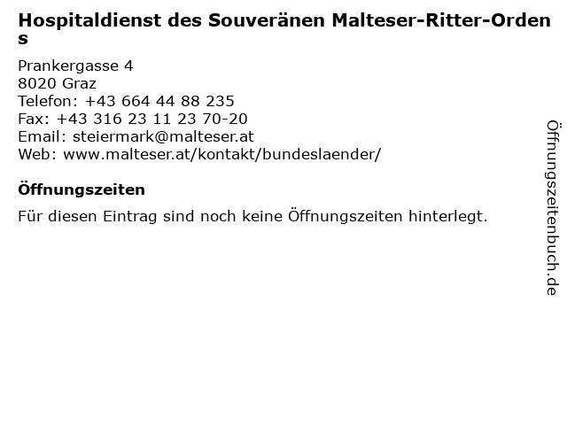 Hospitaldienst des Souveränen Malteser-Ritter-Ordens in Graz: Adresse und Öffnungszeiten