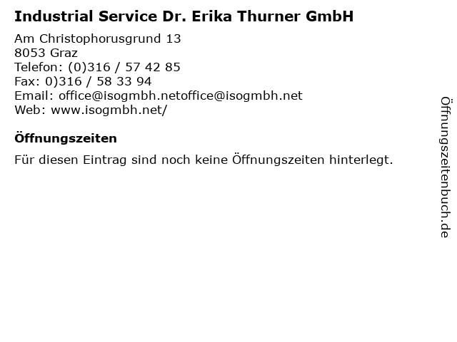 Industrial Service Dr. Erika Thurner GmbH in Graz: Adresse und Öffnungszeiten