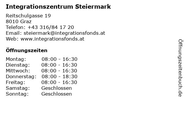 Integrationszentrum Steiermark in Graz: Adresse und Öffnungszeiten