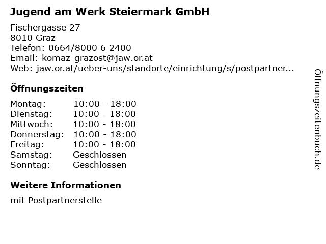 Jugend am Werk Steiermark GmbH in Graz: Adresse und Öffnungszeiten