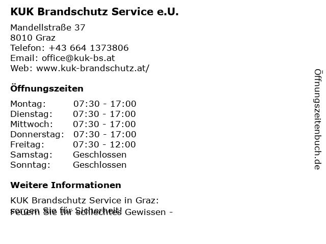KUK Brandschutz Service in Graz: Adresse und Öffnungszeiten
