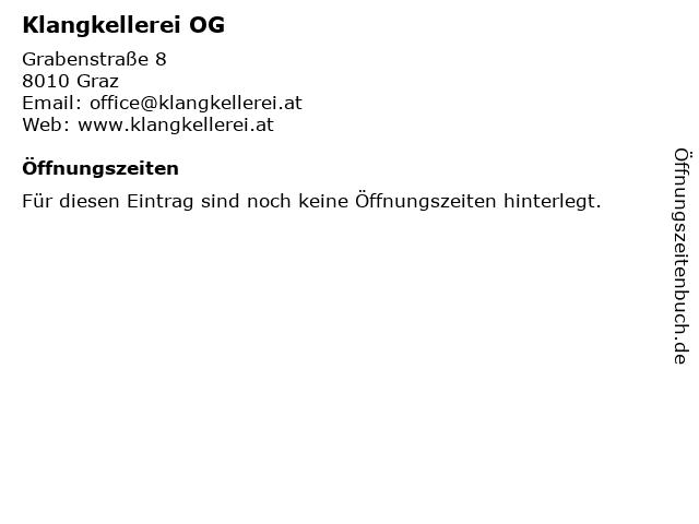Klangkellerei OG in Graz: Adresse und Öffnungszeiten