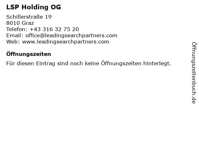 LSP Holding OG in Graz: Adresse und Öffnungszeiten