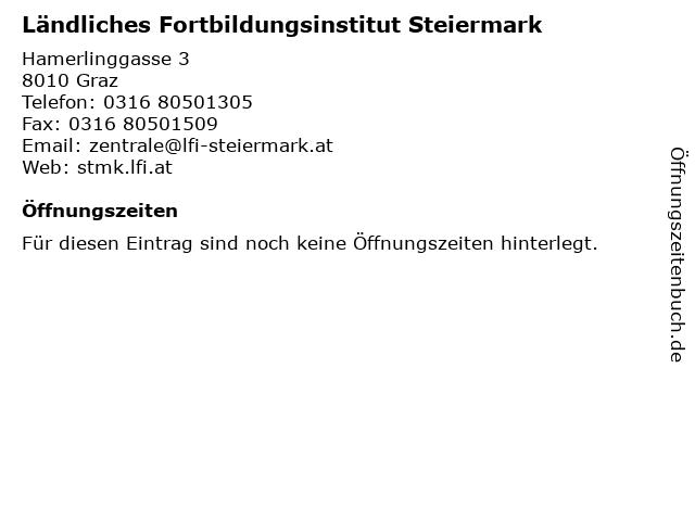 Ländliches Fortbildungsinstitut Steiermark in Graz: Adresse und Öffnungszeiten