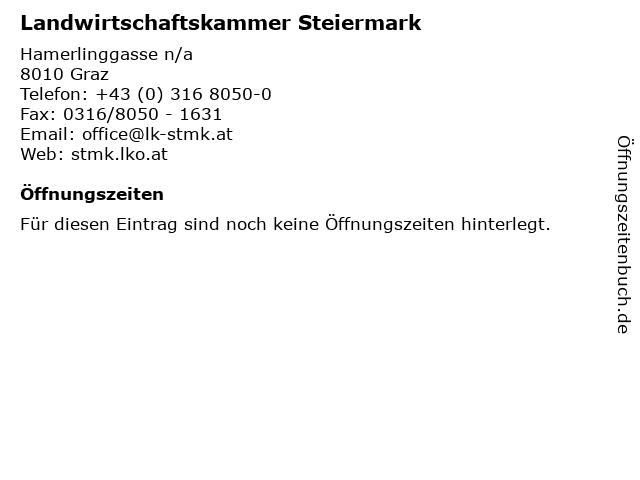 Landwirtschaftskammer Steiermark in Graz: Adresse und Öffnungszeiten