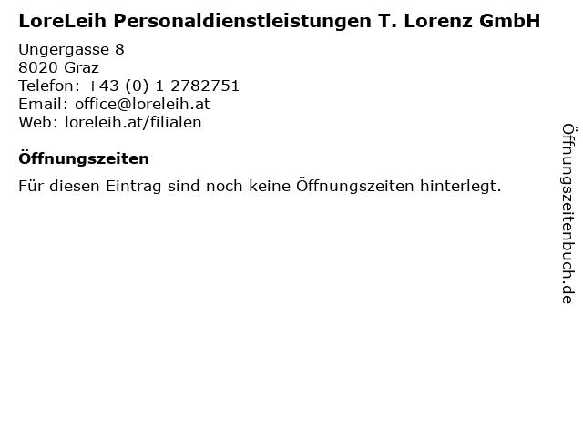 LoreLeih Personaldienstleistungen T. Lorenz GmbH in Graz: Adresse und Öffnungszeiten