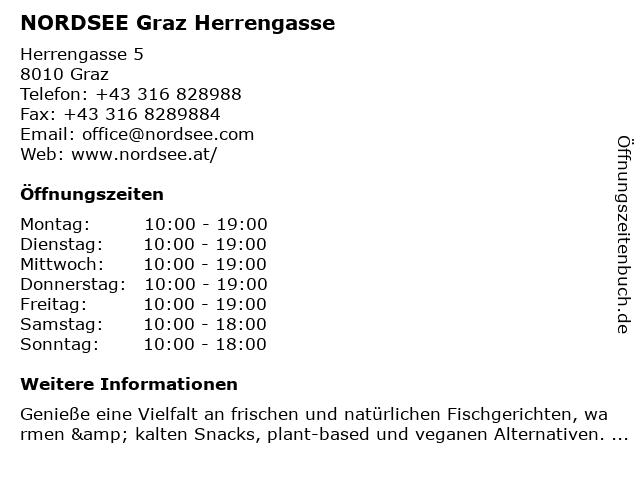 NORDSEE Graz Herrengasse in Graz: Adresse und Öffnungszeiten